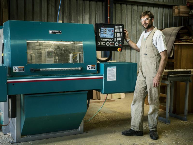 Justin at the CNC Machine